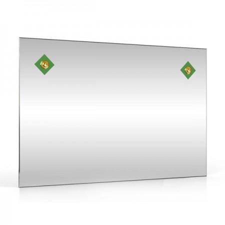 Зеркало 60х40 см. 401С-2Г зелёный ромб