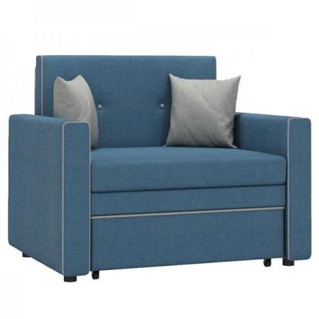 Диван-кровать Найс 85 ткань синяя/серо-бежевая