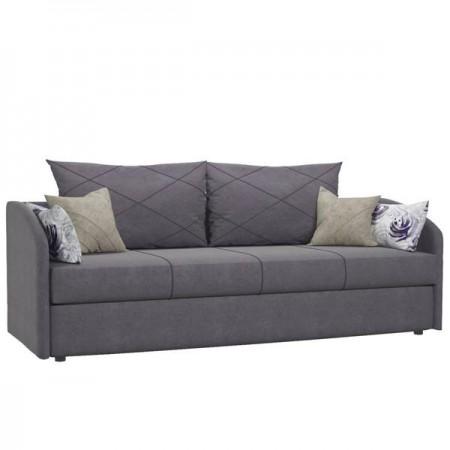 Диван-кровать Лавли ТД 136 сиреневый с подушками