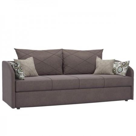 Диван-кровать Лавли ТД 134 коричневый с подушками