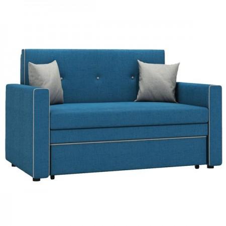 Диван-кровать Найс 120 ткань синяя/серо-бежевая