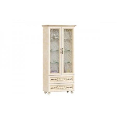 Александрия ЛД-618-110 Шкаф двухстворчатый в гостиную со стеклом