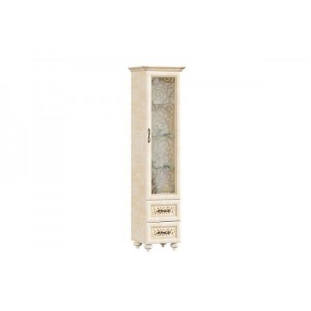 Александрия ЛД-618-100 Шкаф одностворчатый в гостиную со стеклом