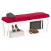 Банкетка Мебель--24 Вента-2 обивка ткань вельвет люкс бордо